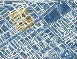 衛星画像・航空画像・GIS(地理情報システム)の位置合わせ結果