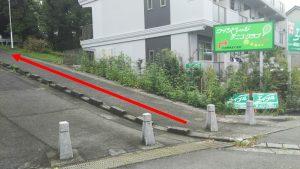 静岡大学バス停前の坂